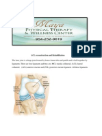 ACL Reconstruction and Rehabilitation