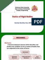 Statics of Rigid Bodies Chapter 1