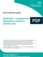 Dyspepsia - Mgt of Dyspepsia in Adults in Primary Care