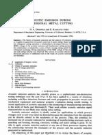 Acoustic Emission During Orthogonal Metal Cutting