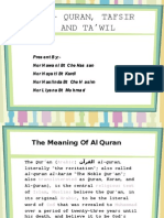 Al-quran, Tafsir Dan Ta'Wil