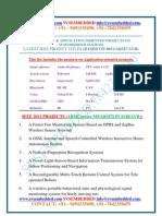 Latest Innovative Svsembedded m.tech Project Ieee-2011