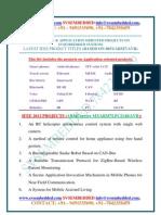 Latest Innovative Svsembedded m.tech Project Ieee-2012