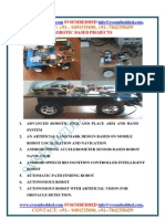 Latest Svsembedded Robotic Based Projects-2013