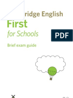 139167 Cambridge English First for Schools Dl Leaflet