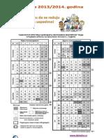 Tabelarni Kalendar 2013-2014 SS