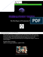 The First Degree of Freemasonry Watch