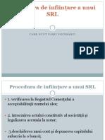 Procedura de înfiinţare a unui SRL