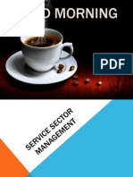 Service sector management , entertainment service industry