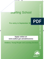Sutton School Admissions Guide