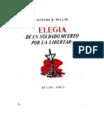 BUFANO, ALFEDRO - Elegía a un soldado muerto por la libertad