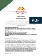 Aboriginal Land Rights Q&A Factsheet