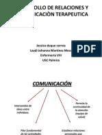 DESARROLLO DE RELACIONES Y COMUNICACIÒN TERAPEUTICA