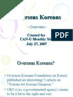 Overseas Koreans - overview