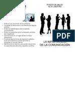 folleto, importancia de la comunicación