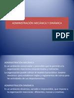 ADMINISTRACIÓN MECÁNICA Y DINÁMICA