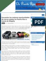 Encuentra las mejores oportunidades de carros usados en Puerto Rico a través de Wippity