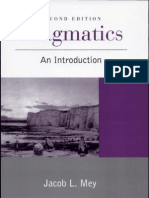 Mey - Pragmatics - An Introduction
