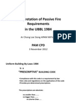 Fire Fighting _ Intepretation of Passive Fire Requirement Ubbl 1984