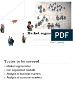 Market Segmentation -Unit 2