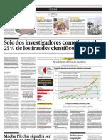 Sólo dos científicos cometieron el 25 por ciento de los fraudes científicos del 2011
