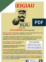 Save Creigiau 'recruitment' leaflet