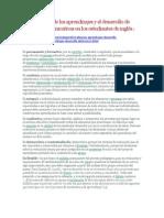 La evaluación de los aprendizajes y el desarrollo de destrezas comunicativas en los estudiantes de inglés