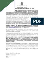 CONVOCATORIA PÚBLICA MERCADOS 2013