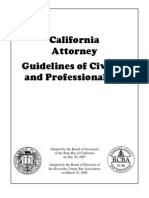 Attorney Civility Guidelines 2008