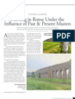 Painting in Rome Under the   Influence of Past & Present Masters, Plein Air Magazine, Aug.-Sept., 2013