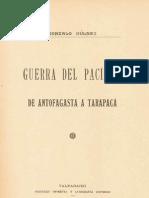 Guerra del Pacifico, de Antofagasta a Tarapaca, Gonzalo Bulnes, 1911