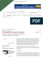 Artigo - Como Definir o Escopo Do Projeto - Information Week