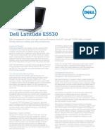 Dell Latitude E5530 Spec Sheet