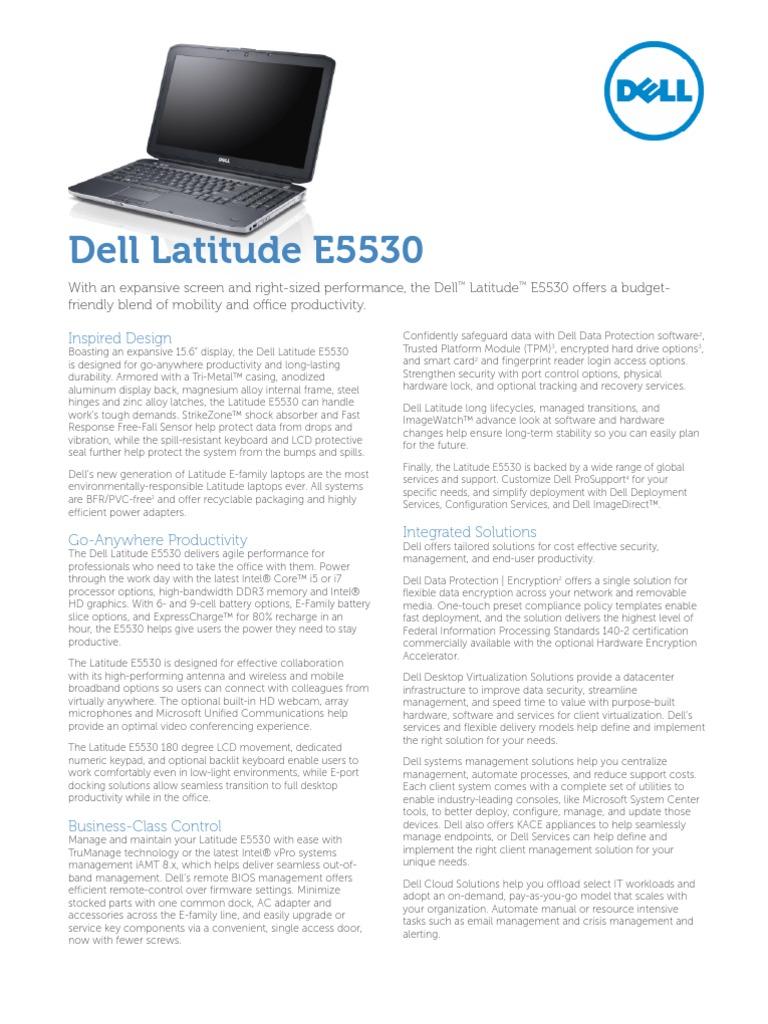 Dell Latitude E5530: Inspired Design