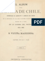 Guerra del Pacifico, Album de La Gloria de Chile, Tomo 2, B.V.Mackenna1883