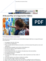 20 Reasons Why Art is Important for Children