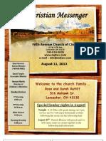 August 18 Newsletter