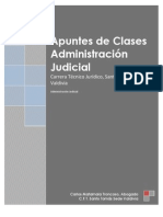 Apuntes de Clases Administracion Judicial 2013
