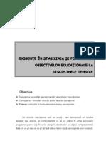 Oproiu Gabriela - Exigente in Formularea Obiectivelor Operationale