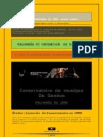 Palmarès  de  1999 (publication 2009), HEM Genève