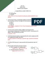 Midterm Exam Solutions