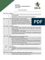 Programa Seminario Internacional CVR+10