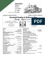 Parish Bulletin for August 18, 2013