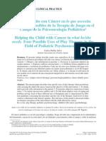 terapia de juego en niños con cancer