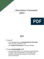 RDF como modelo de descrição no contexto biblioteconômico