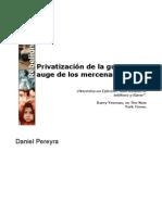 Privatización de la guerra y auge de los mercenarios