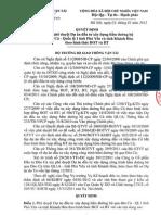 QĐ V/v phê duyệt Dự án đầu tư xây dựng hầm đường bộ qua đèo Cả - QL1 tỉnh Phú Yên và tỉnh Khánh Hòa theo hình thức BOT và BT.