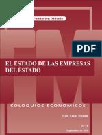 Coloquio económico Nº 23, El estado de las empresas del estado