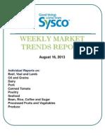 Weekly Market Trends Report 8 16 13