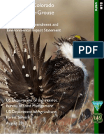 Northwest Colorado greater sage grouse draft plan and environmental impact statement